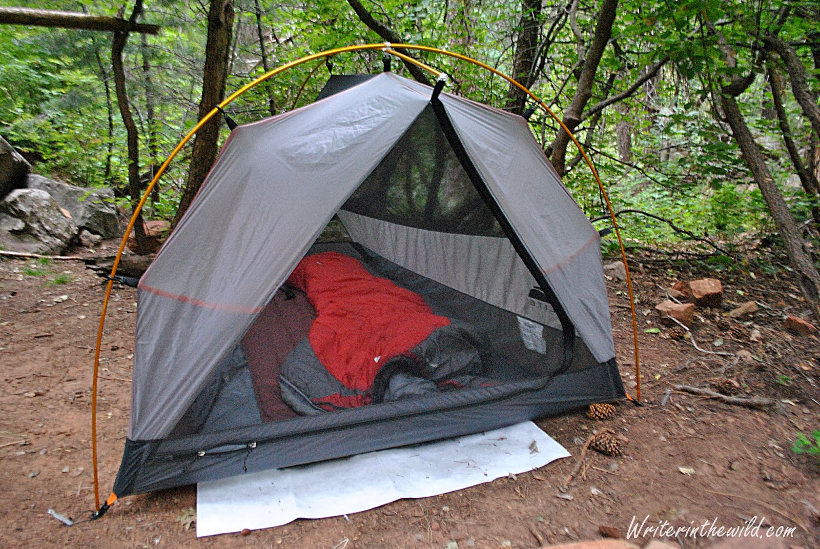 Lots of space as a solo shelter & Writer in the Wild: Gear Review: GoLite Imogene UL2