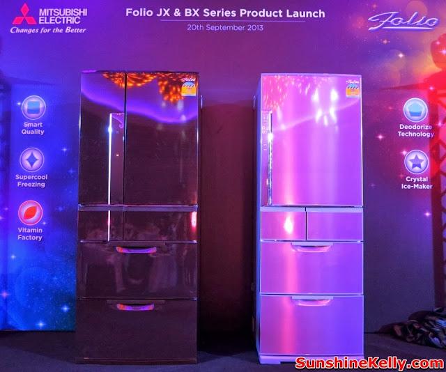 Electric, Folio JX refrigerator, folio BX Refrigerator, mitsubishi malaysia