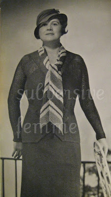 1930's Knitting pattern women's 'Cabra' Plus Size Suit