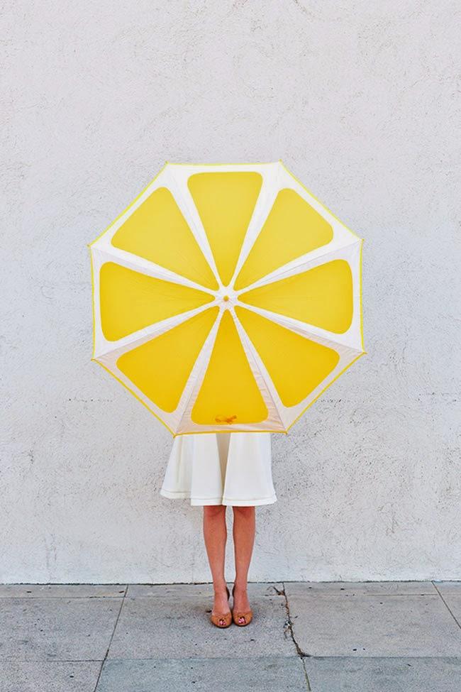 Paraguas rodaja de limón