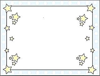 molduras para bilhetes escolares
