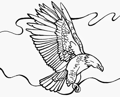 Bald Eagle Coloring Page Printable