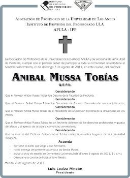 Nota de Duelo Aníbal Mussa Tobías