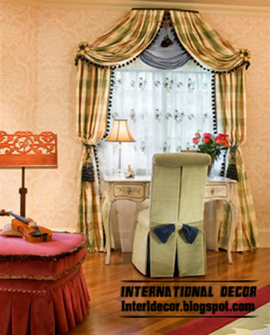 10 latest classic curtain designs style for bedroom 2015 for Different bedroom styles