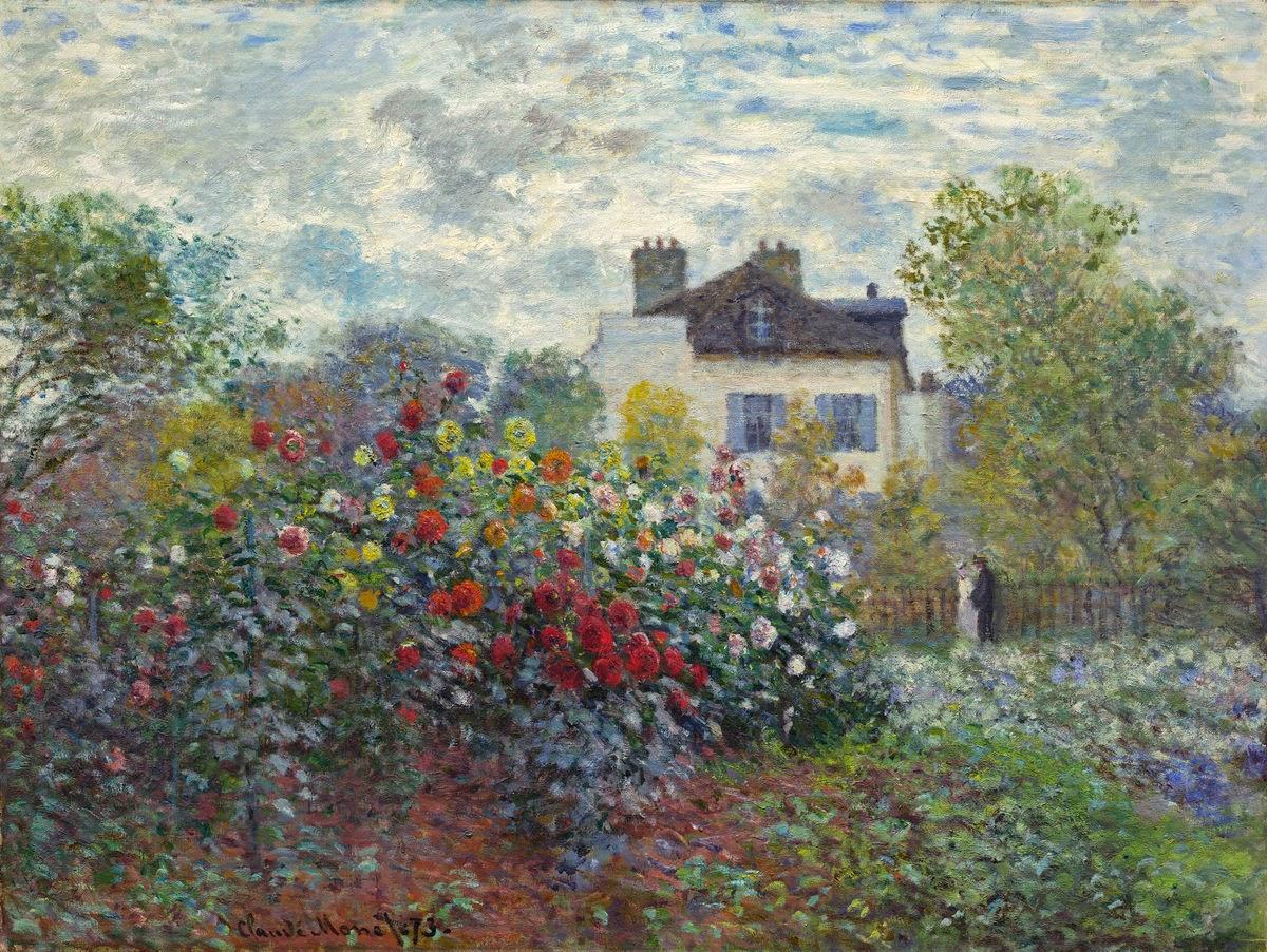 Claude Monet, El jardín del artista en Argenteuil (1873), National Gallery of Art, Washington