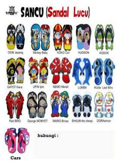 katalog sandal sancu bekasi