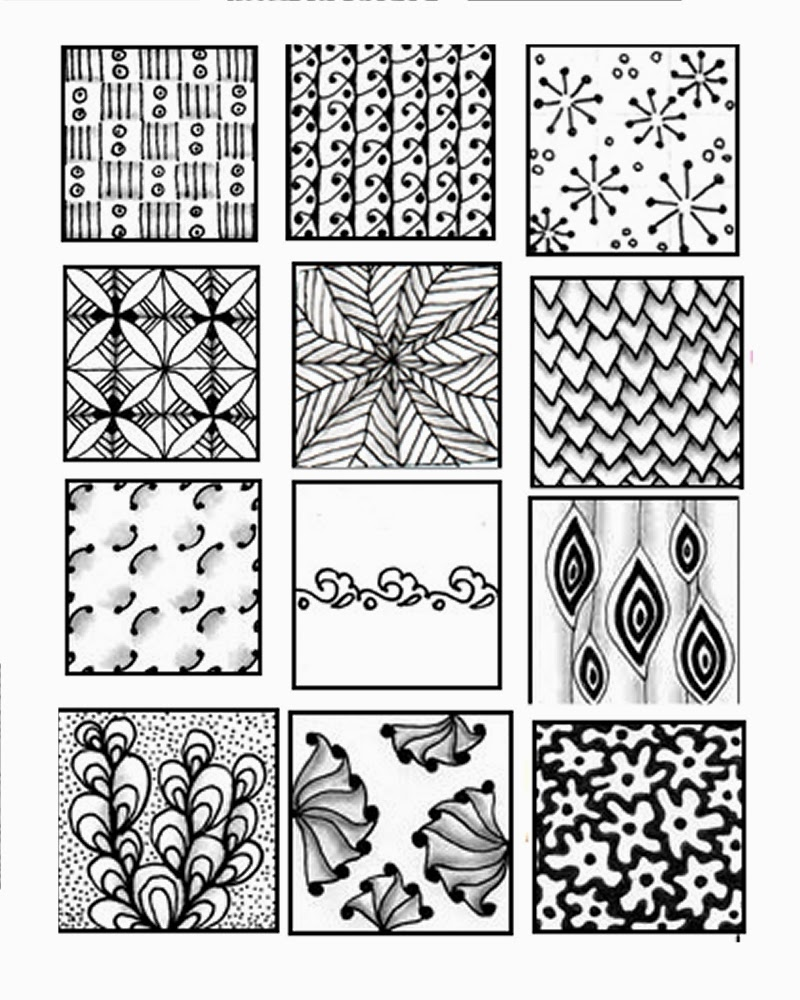 It's just an image of Invaluable Zentangle Patterns Printable