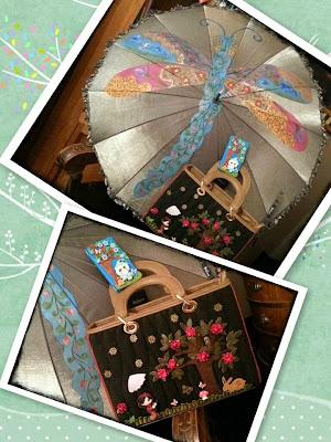 Regalos del Sorteo Cumpleaños El Jardín del Edén realizados a mano por Sylvia Lopez Morant