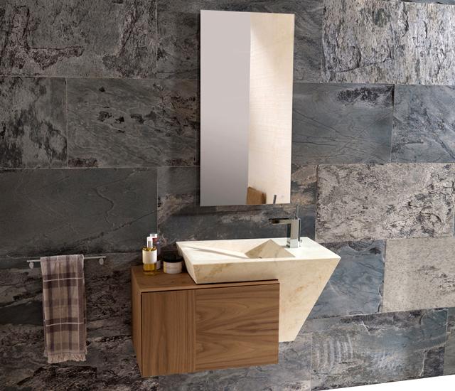 Marzua lavabo zen de porcelanosa - Banos con piedra natural ...