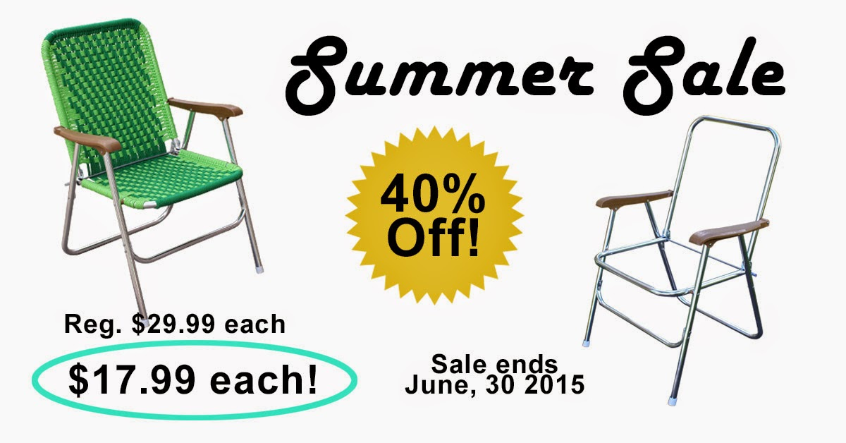 Lawn Chair Summer Sale at Macrame Super Store.com