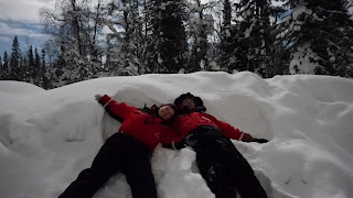 Luosto Northern Lights Holidays Snow Angels Snow Suits Fun