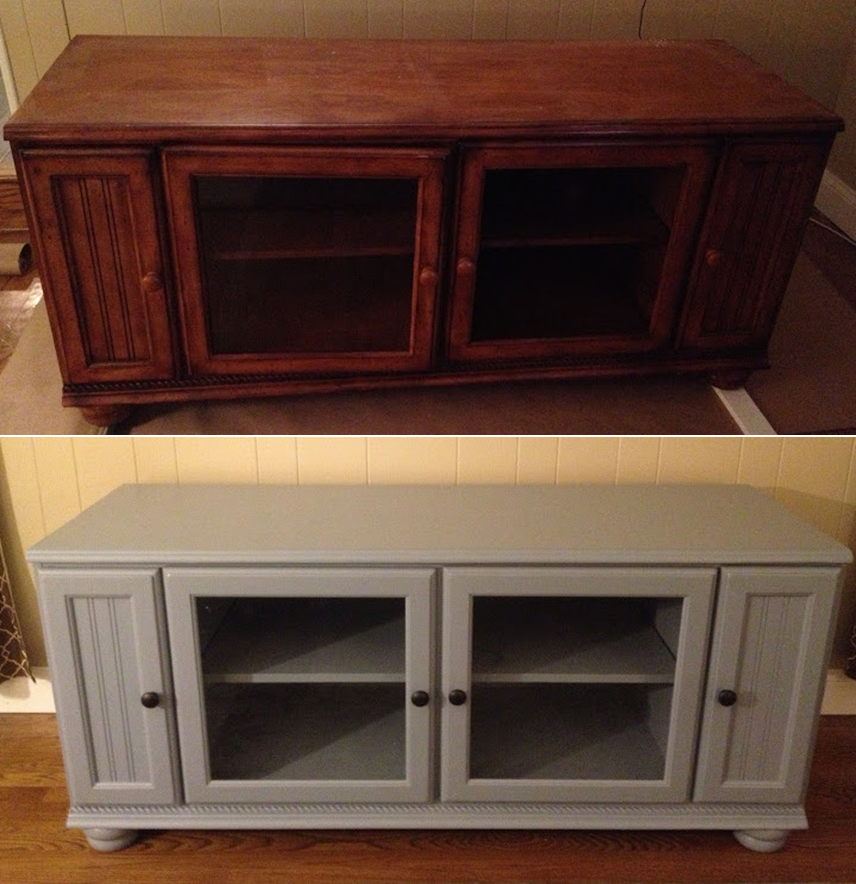 house and handyman painted tv stand