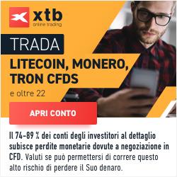 Trada Litecoin, Monero, Tron con XTB