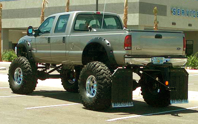 ford trucks lifted up. Lifted Ford Rear - Giant