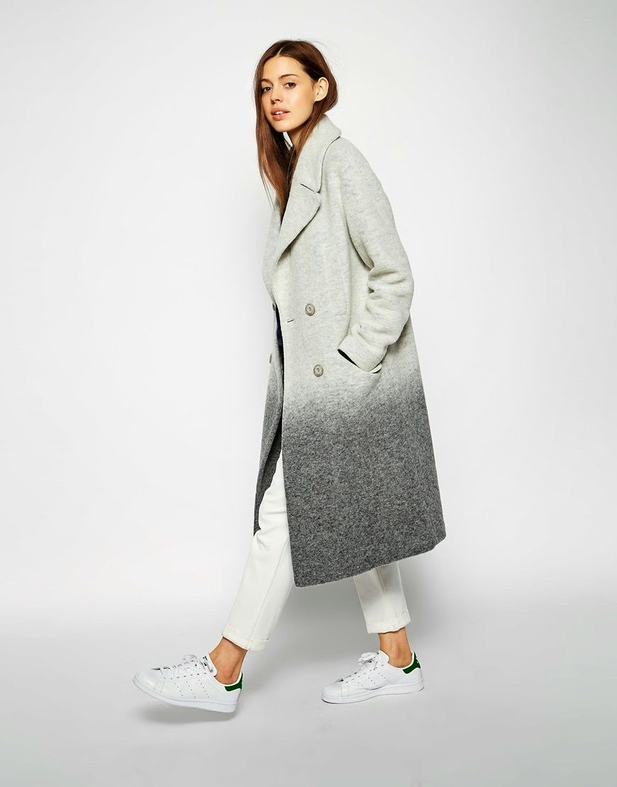 grey ombre long coat