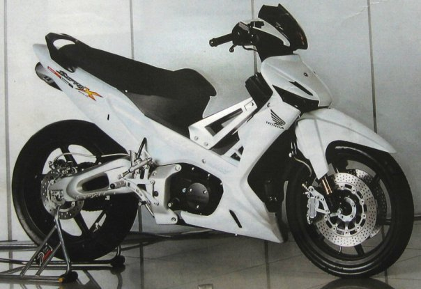 modifikasi motor supra x 125 title=