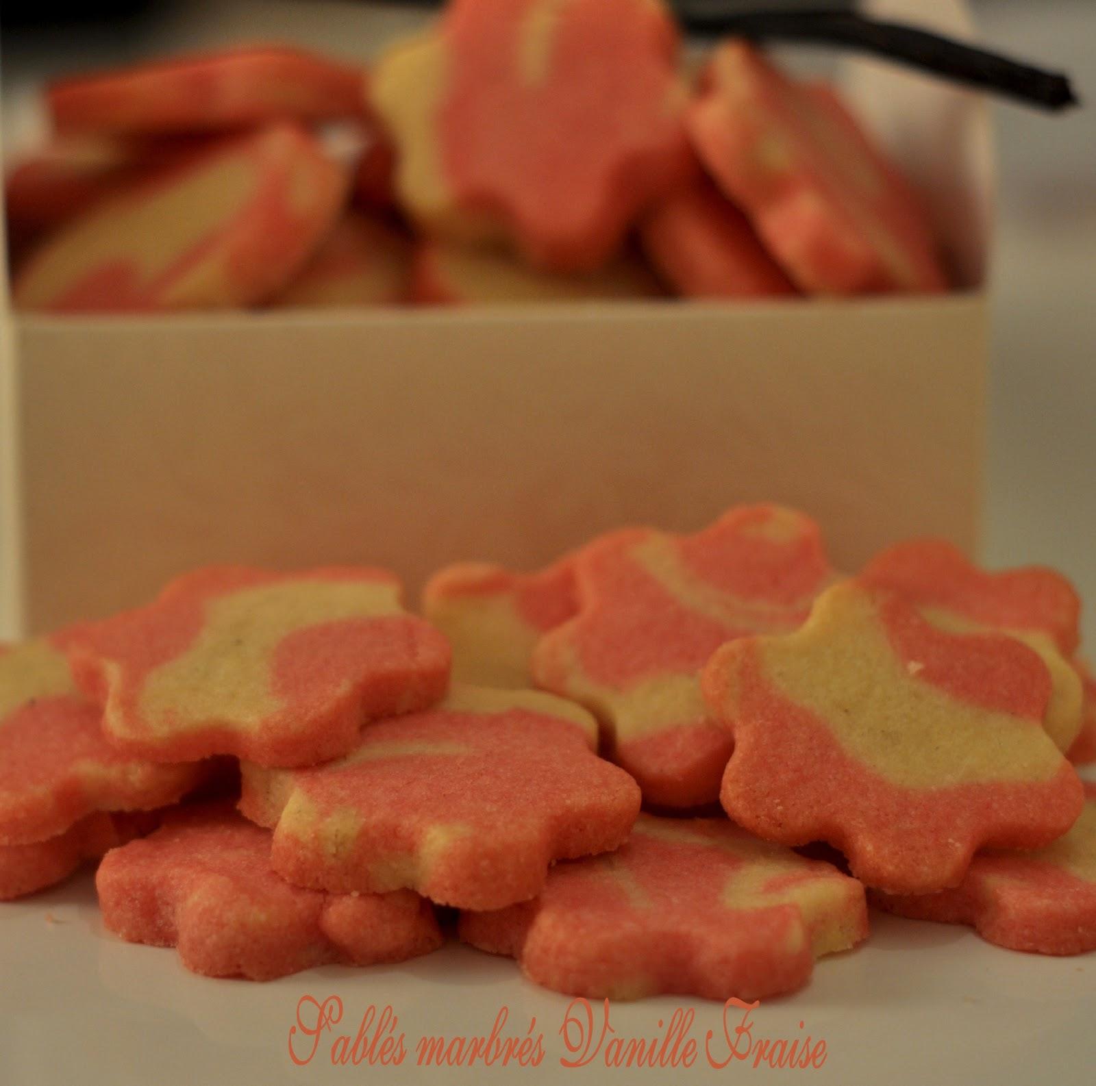Sablés marbrés vanille fraise