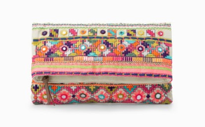 Mango Ethnic Embroidery Clutch