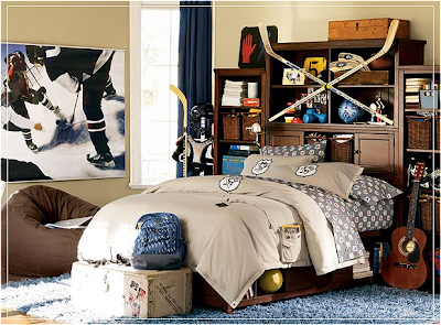 Teen Boys Sports Theme Bedrooms Residence Furniture Ideas