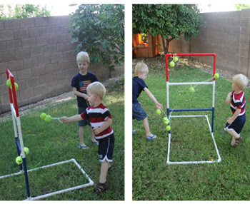 Playing Ladder Golf