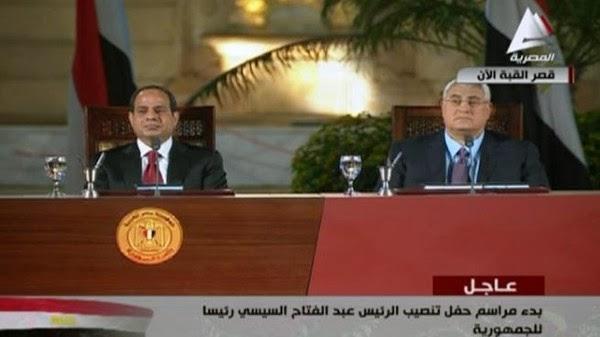 نص كلمة الرئيس عبدالفتاح السيسي للشعب المصري خلال الاحتفال بتنصيبه في قصر القبة