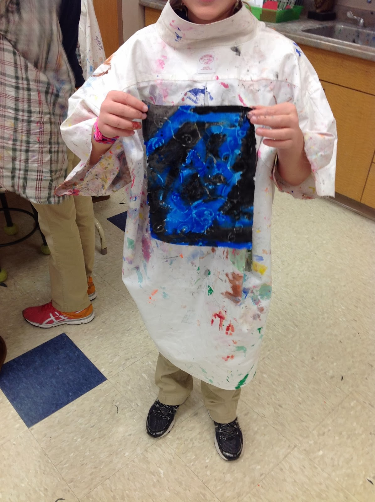 5th Grade Gel Glue Batik Art Lesson