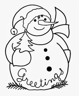 Dibujos de Hombres de Nieve para Colorear, parte 1