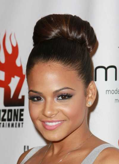 Famous Celebrity Updo Bun Hairstyle 11