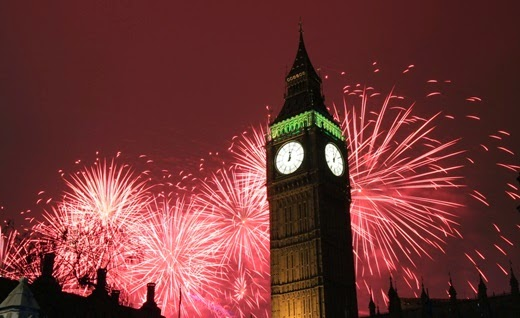Happy New Year 2014 Countdown London, England