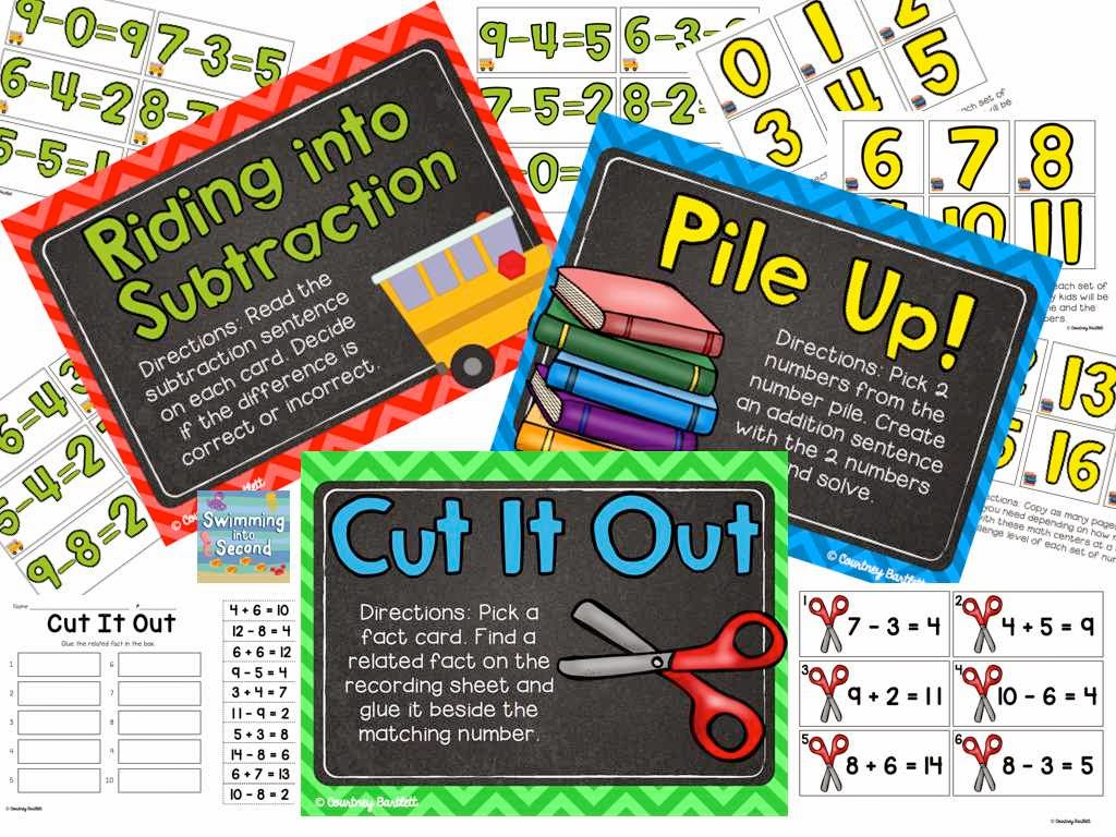 http://www.teacherspayteachers.com/Product/Back-2-School-Math-Centers-1293816