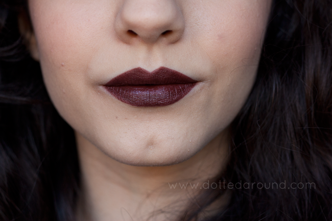 Mac Film Noir swatch lipstick