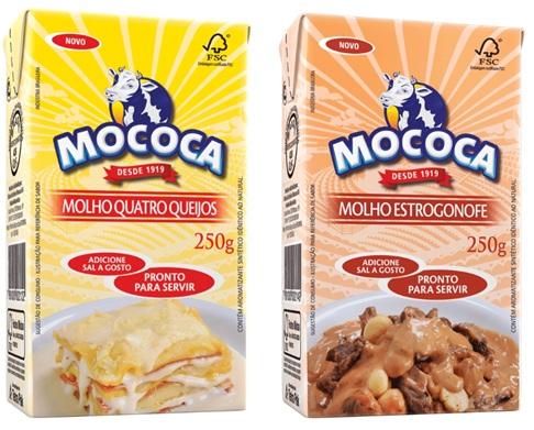 Lançamentos: molhos Mococa em novos sabores (quatro queijos e estrogonofe)