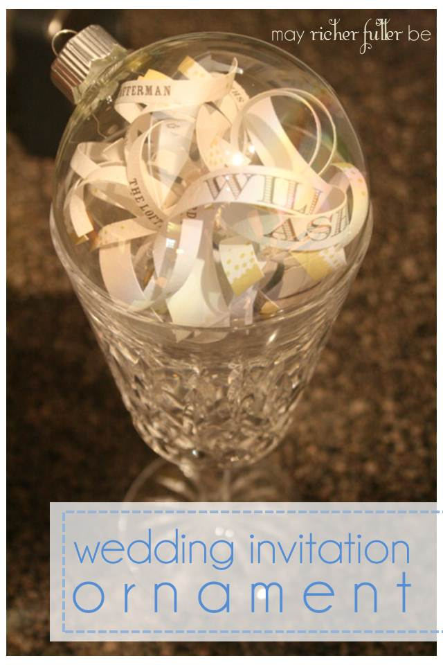wedding invitation ornaments