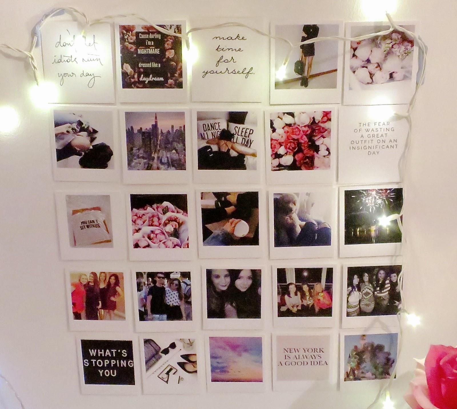 Polaroid wall on tumblr - My Tumblr Wall