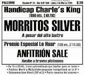 Todo A Ganador - 2/03 - Palermo - Handicap Charle's King - Morritos Silver