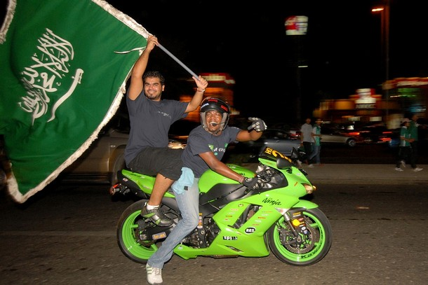 sports bikes on saudi national day