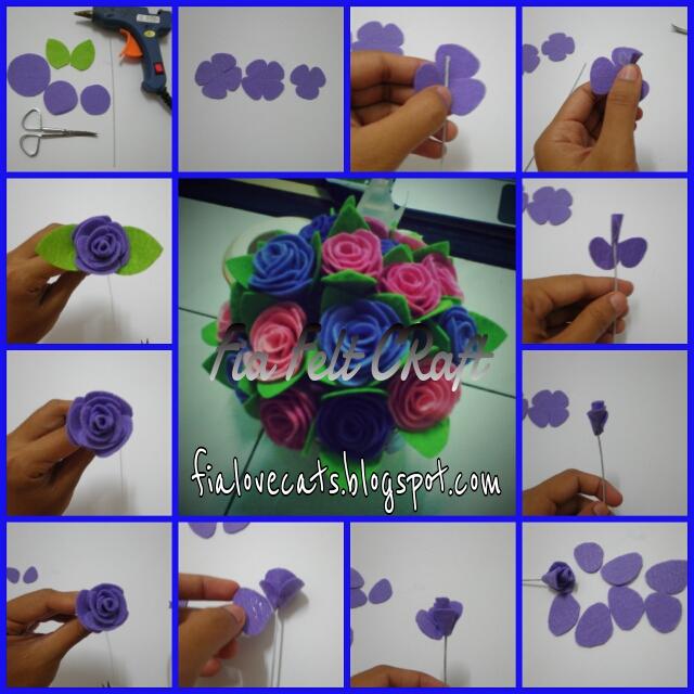 ikut je step by step dari awal pucuk rose dibuat sampai ke daun~~~~
