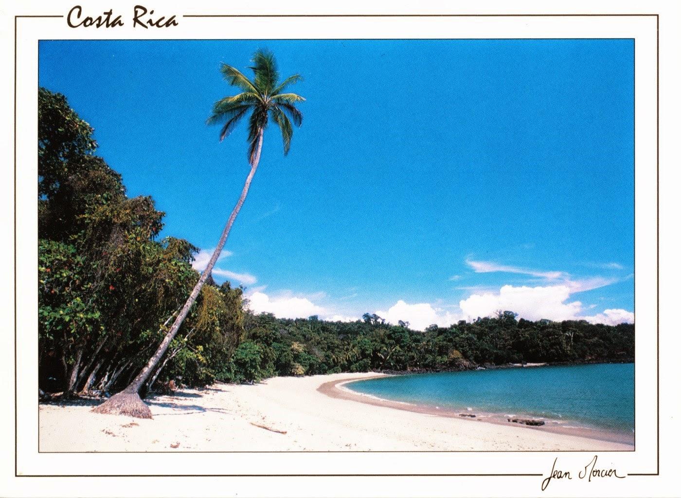 postcard costa rica travel