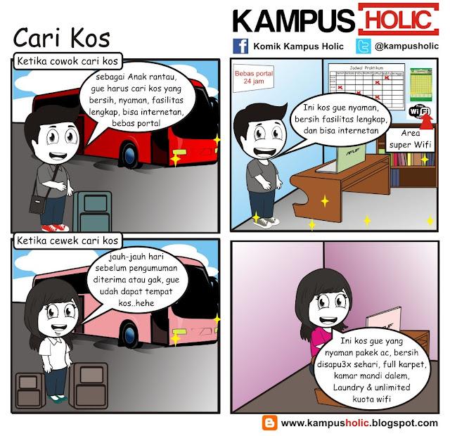 #234 Cari Kos cowok & cewek komik kampus holic