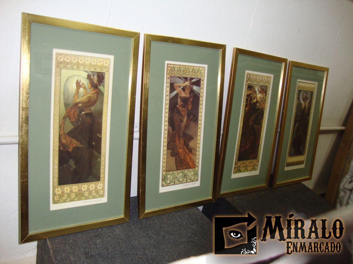 Enmarcado De L Minas De Alphonse Mucha Marco Dorado A La