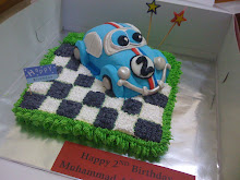 Herbie Racing Car 3D Cake