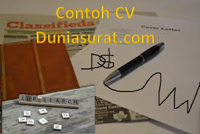 Contoh CV Curriculum Vitae Daftar Riwayat Hidup Yang Baik dan Benar