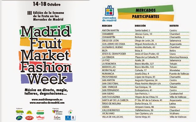 Madrid Fruit Market Fashion Week