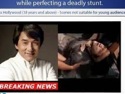 Jackie Chan Meninggal Menyebar di Internet Adalah Hoax