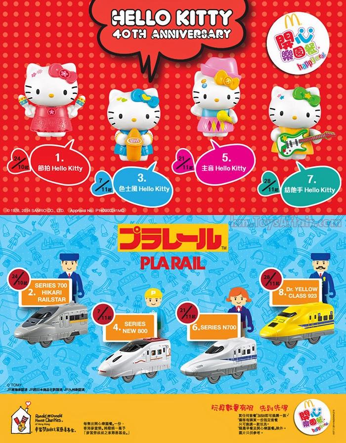 Hello Kitty Happy Meal Toys : Hello kitty plarail happy meal toys