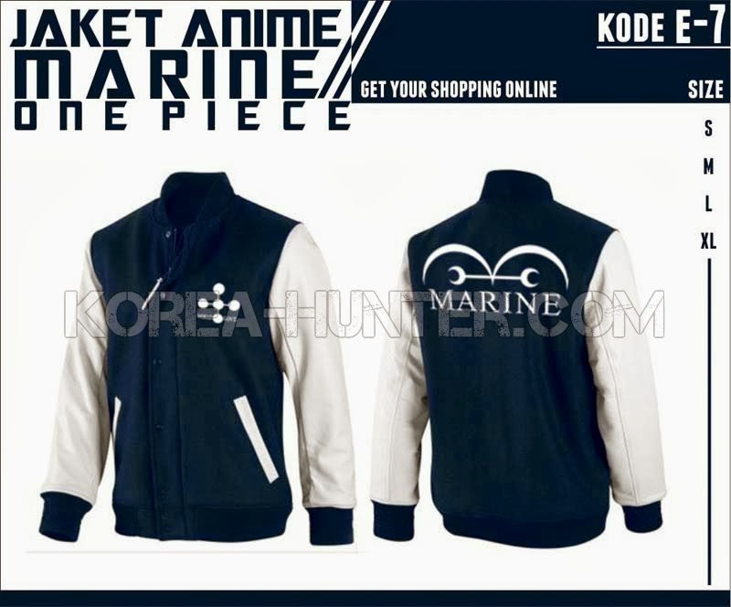 KOREA-HUNTER.com jual murah Jaket Anime One Piece - Marine | kaos crows zero tfoa | kemeja national geographic | tas denim korean style blazer