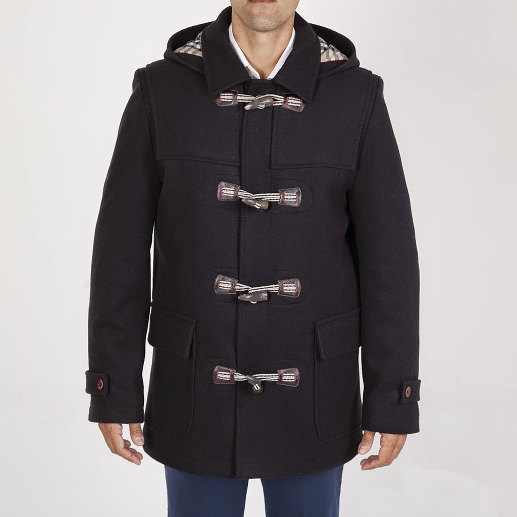 Trenka lana con almarames y capucha para hombre de Paco Cecilio
