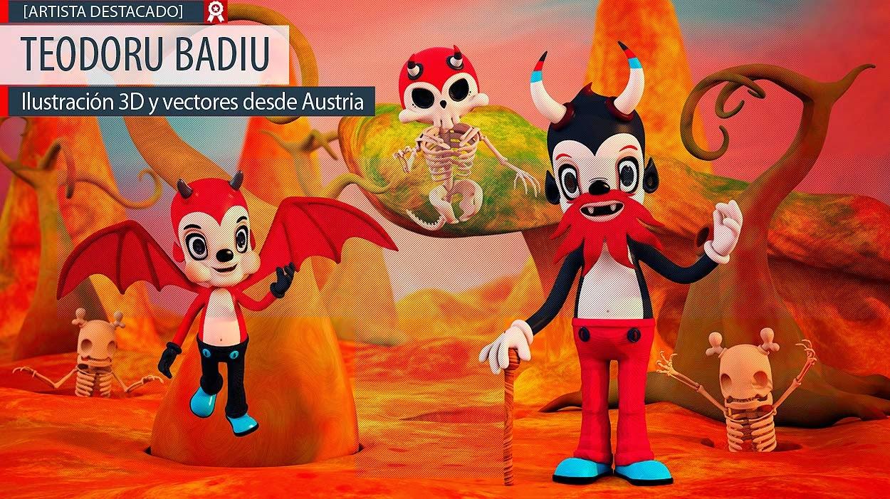 Ilustración 3D y vectores de TEODORU BADIU.