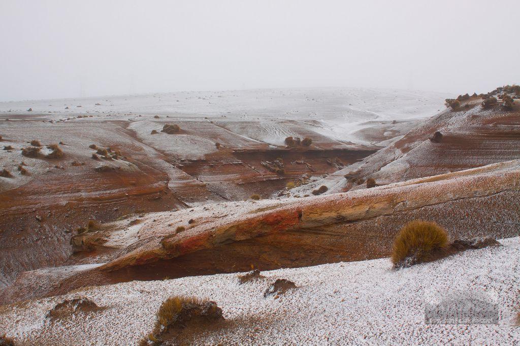 Eroded Volcanic Deposits Tongariro National Park New Zealand