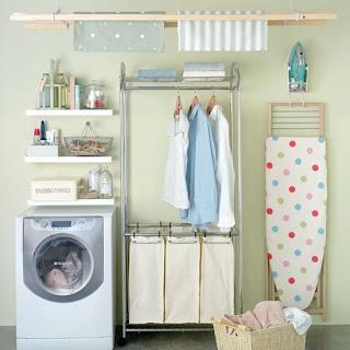 acessórios para organizar a lavanderia
